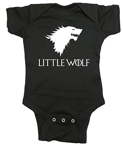 Game Of Thrones Baby One Piece Little Wolf Bodysuit Amazon Ca