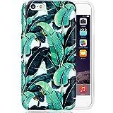 "Green iPhone 6 Case Banana Leaves,VIVIBIN Anti-Scratch &Fingerprint Shock Proof Thin TPU Case For iPhone 6 / 6s 4.7"" , Banana Leaf Design"