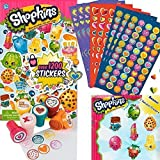 Shopkins 1200 Shopkins Stickers, 600 Valentine Day Mini Heart Sticker, 6 Fun Heart Stampers and 2 Random Erasers