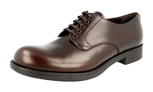 Men's 2EE212 B4L F0003 Brushed Spazzolato Leather Business Shoes