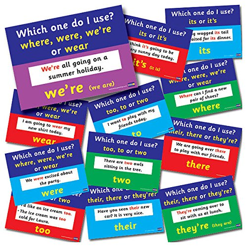 12 Mixed English Grammar Common Mistakes Childrens Pupils Teachers Classroom Display Card Posters A4 Primary Teaching Services