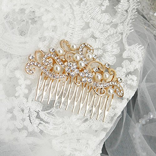 FXmimior Bridal Women Vintage Wedding Party Crystal Rhinesto