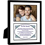 "First Anniversary Gift – Love Poem for the ""Paper 1st Anniversary"" in 8x10 Inch Frame - Add Photo"