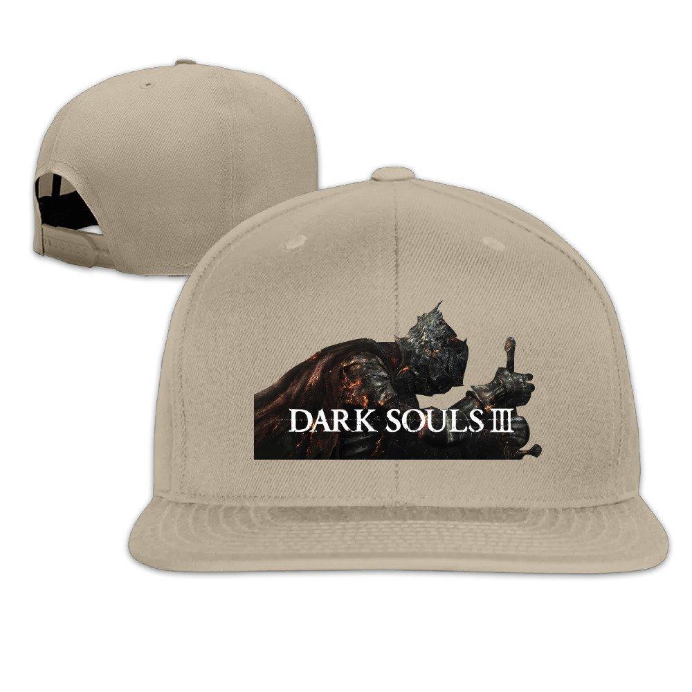 Yhsuk Dark Souls 3 Unisex Fashion Cool Adjustable Snapback Baseball Cap Hat One Size Natural