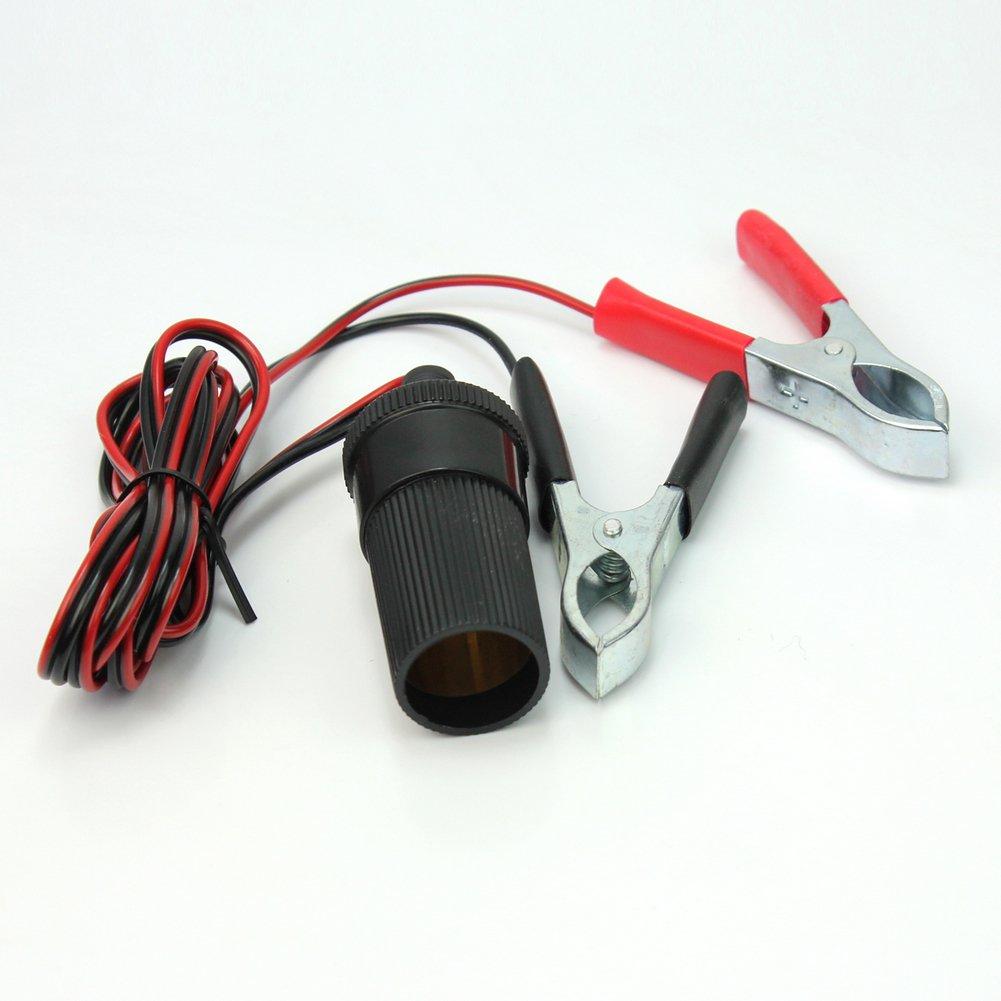 Coche Arranque 12V Bater/ía Terminal Pinzas Clips Power Socket Cable Adaptador