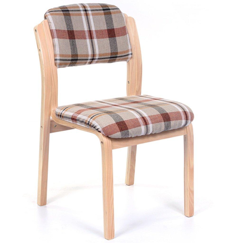 GRJH® 椅子、家庭用布カフェダイニングチェアシンプルホテル椅子背もたれヨーロッパ木製椅子 ポータブル,折りたたみ可能 (色 : #1) B07B46MLYP #1 #1