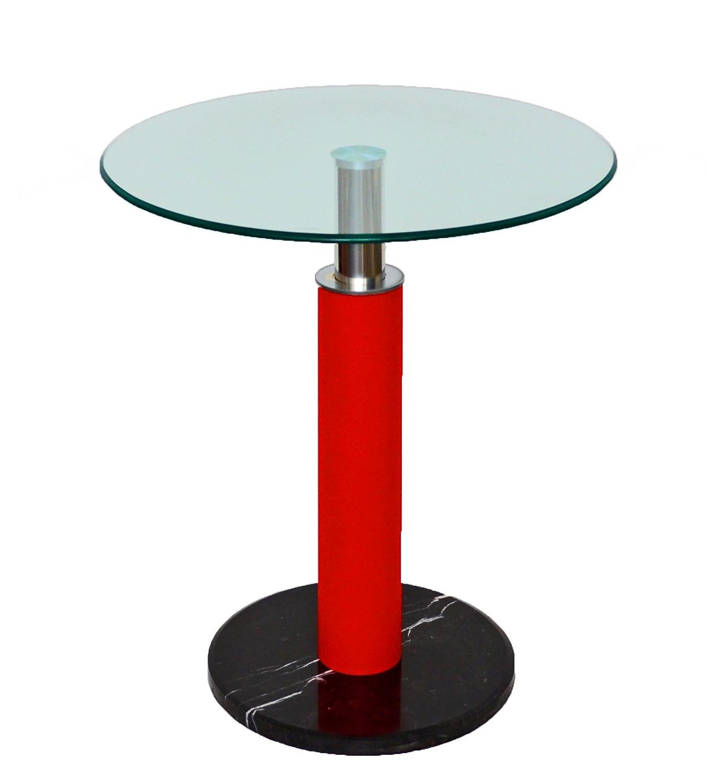 Glastisch rund  Glastisch Rund Beistelltisch Bartisch 60 cm Rund Ecktisch Schwarz ...
