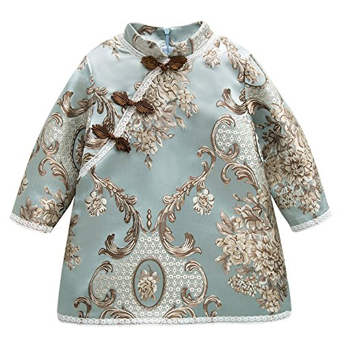 1dd2a233f Baby Girl Qipao Coat Cheongsam Traditional Chinese Dress for Toddler Chi Pao