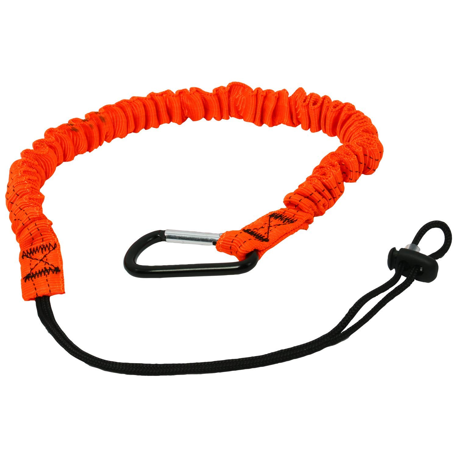 Tool Lanyard with Carabiner Clip and Adjustable Loop End//Quick Release Shock Absorbing Safety Retractable Tool Leash,Tools Fall Protection Equipment,5 Pack