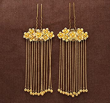 Bride/'s Headwear Golden Costume Chinese Phoenix Coronet Hair Ornament Cheongsam