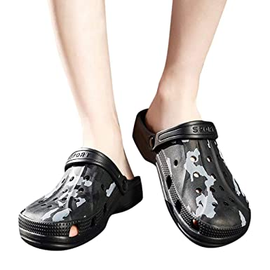 96ca80aa3f1f5 Water Sandals - Men s Garden Clogs Shoes Summer Quick Drying Walking  Comfort Casual Beach Slippers (