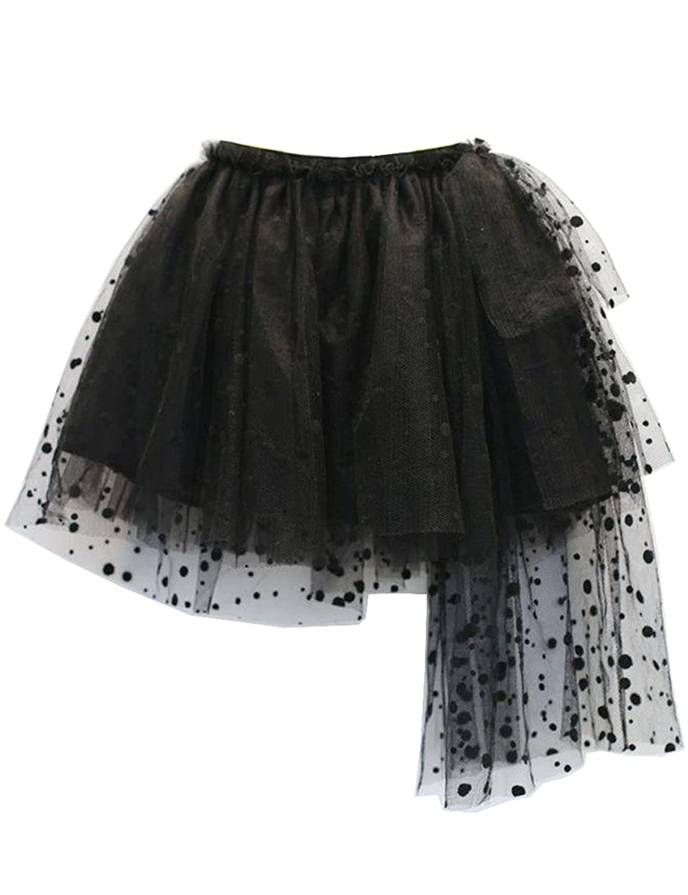 Baotaobabe Little Girls Tulle Dress up Party Black Tutu Skirts