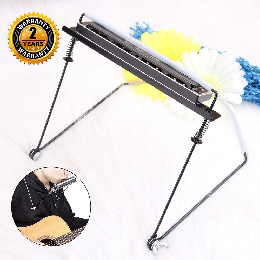 Harmonica Holder pour Harmonica 4 10 24 trous Harmonica mains libres Support pour le cou par OIBTECH (Harmonica non inclus)