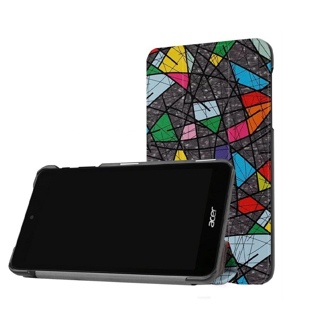 Tablet Acer Iconia One 7 B1-780 Case Cover, [Painted Patterns] [Shock-Absorption] Folding Cover Ultra Slim Premium PU Leather Case for 7' Acer Iconia One 7 B1-780 Android Tablet-Church Window DETUOSI #PC0547TY