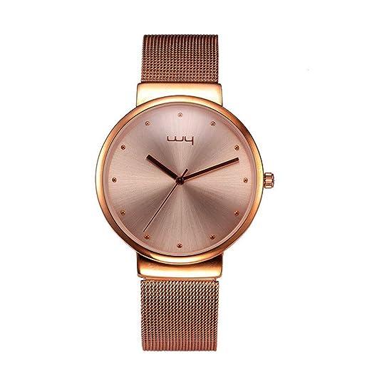 Relojes De Pulsera,Reloj De Pareja Reloj De Moda Reloj De Pareja Reloj De Malla Reloj Impermeable para Estudiantes Café - Hombre: Amazon.es: Relojes