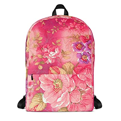 Handmade Floral Minimalist, Small Water-Resistant Pink Commuter Fashion  Backpack for Men and Women 08778b91dc