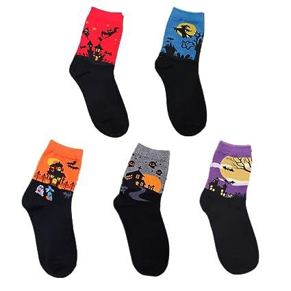 5PCS bunte Hexe-Muster-Frauen-Dame-Mädchen-Socken gesetztes ...