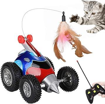 Nasjac Remote Katzenspielzeug, katzenspielzeug Feder