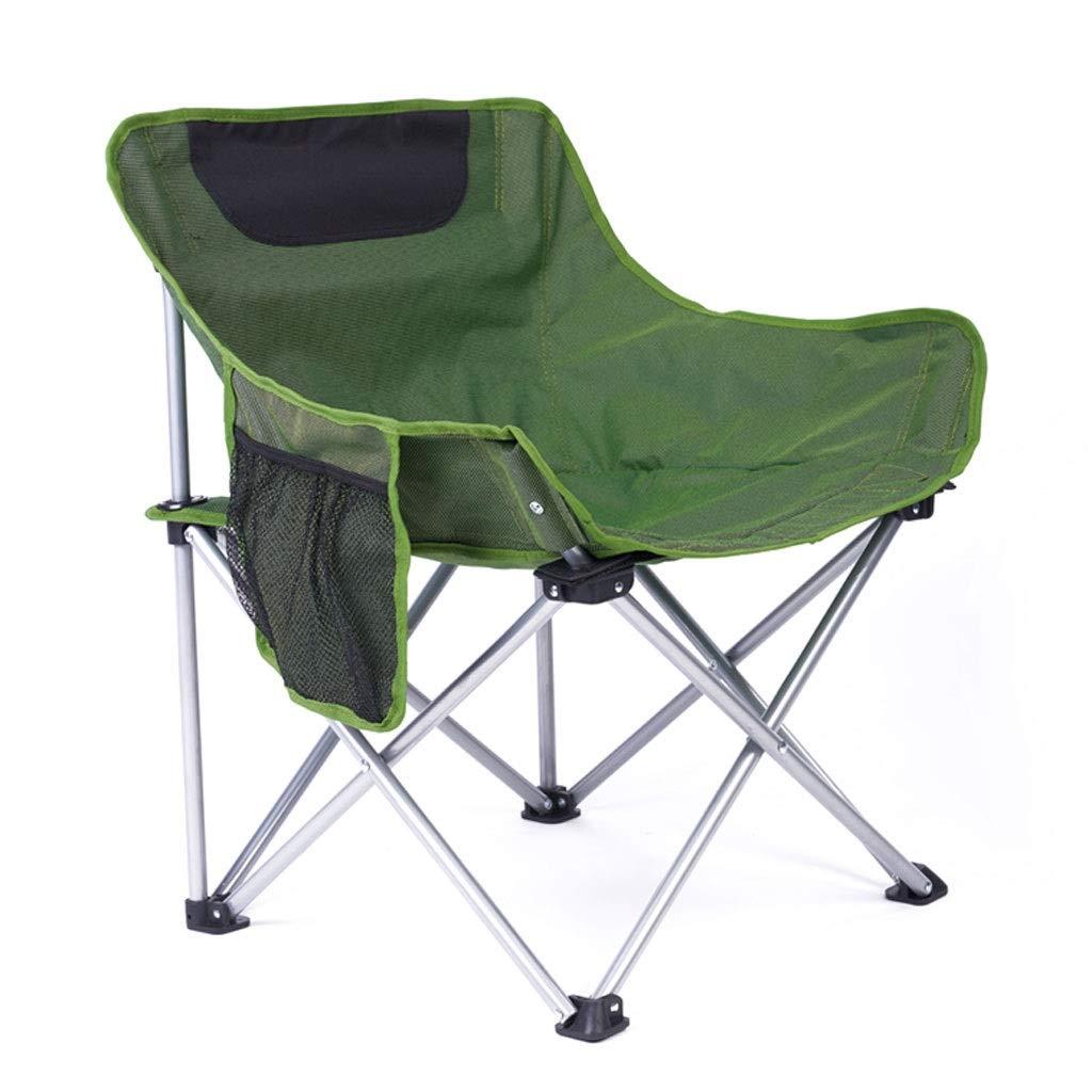 Klappstuhl Camping Tragbare Licht Einfache Freizeit Angeln Park Hof Strand 2 Farbe 60  45  66 cm MUMUJIN (Farbe   Grün) Grün