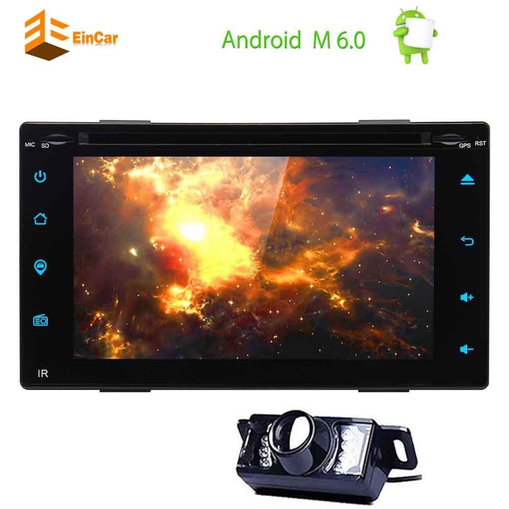 Actualizar Android 6.0 Doble Din coches reproductor de DVD 6.2 Stereo pantalla táctil del GPS del coche de la rociada de navegación del vehículo Auto ...