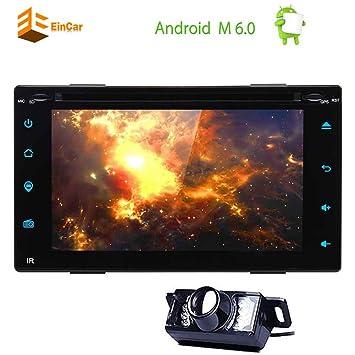 Actualizar Android 6.0 Doble Din coches reproductor de DVD 6.2 Stereo pantalla táctil del GPS del ...