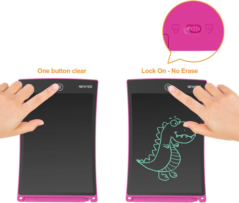 Rose Diff/érentes Couleurs 8,5 Pouces de Longueur NEWYES NYWT850 Tablette d/écriture LCD