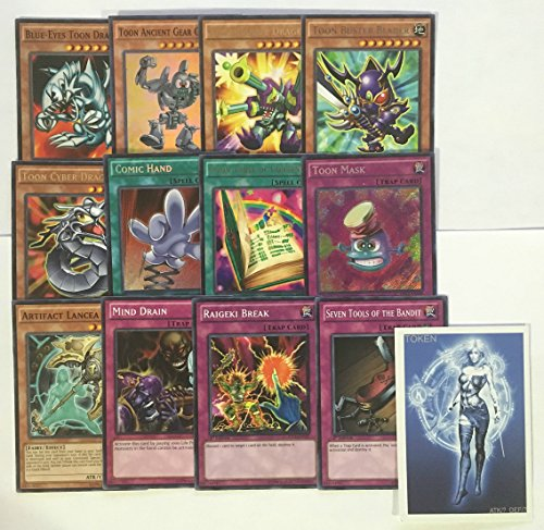 YUGIOH Tournament Ready Toon Deck with Complete Side Deck and exclusive Phantasm Gaming Token - Tournament Ready Gear Deck