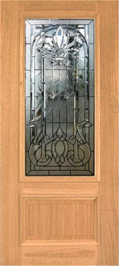 Mahogany Front Door With Glass HAND MADE LEADED STAINED GLASS MAHOGANY ENTRY DOOR