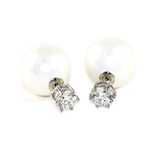 b4ac21811 Image Unavailable. Image not available for. Color: Simulated Pearl Rhinestone  Stud Earrings