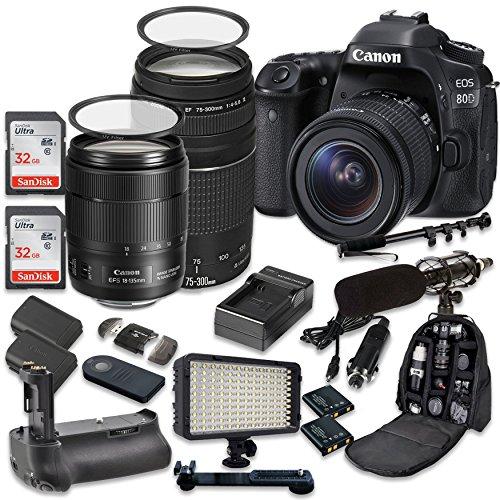 Canon EOS 80D Wi-Fi Full HD 1080P Digital SLR Camera with Ca