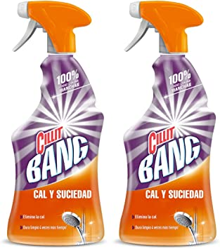 Cillit Bang Potente Limpiador Spray Cal & Brillo 750 ml (pack de 2 ...
