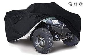 Tokept 190T Black Quad Bike ATV ATC Rain WaterProof Cover XXL Size 88'' x 39.2'' x 42.4''