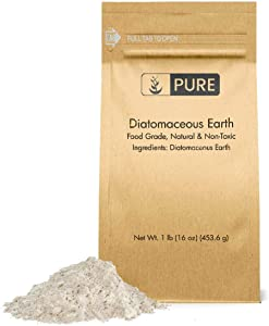 Diatomaceous Earth (1 lb.) by Pure Organic Ingredients, Food Grade, Hundreds of Uses for Health and Cleaning for You, Your Pets, and Your Home