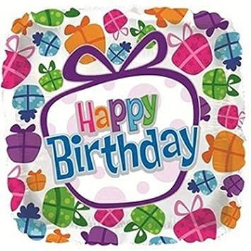 Amazon.com: Regalos Feliz cumpleaños 18, forma cuadrada ...