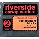 Seattle Sports RS - 7'' Universal Canoe Replacement Blocks (Pair), Gray