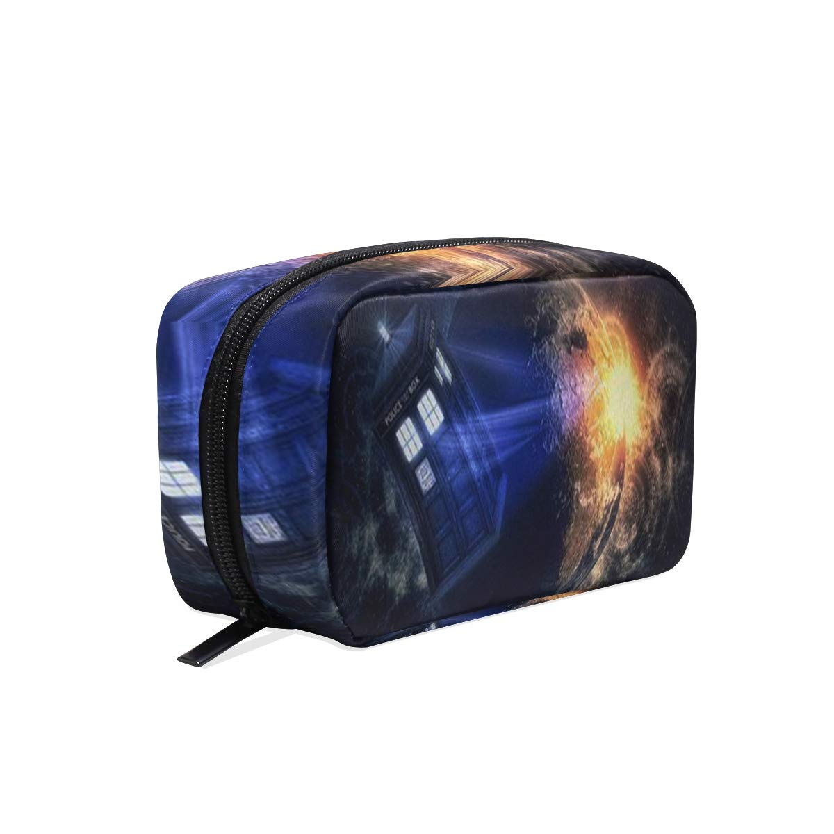 Toiletry Bag Doctor Who Tardis Womens Beauty Makeup Case Brush Cosmetic Organizer