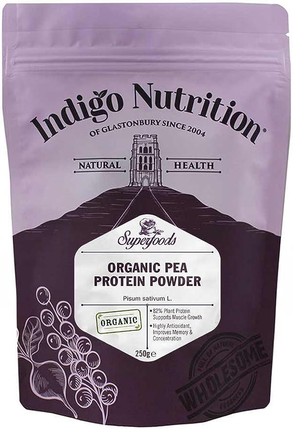 Indigo Herbs Proteína de guisante ecológico en polvo 250g
