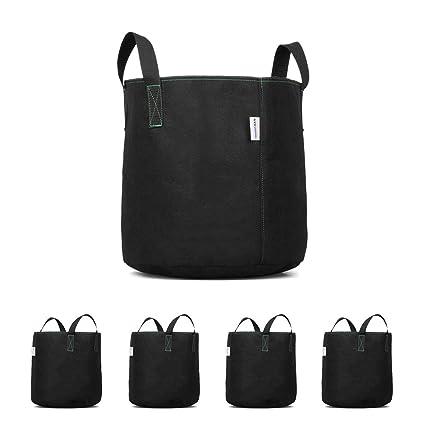 Amazon.com: Tela bolsas de Grow – 5 Paquetes 7 galones ...