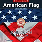 5-Star Rated American Flag / US Flag - 8x12ft - by Federal Flags - Fully Sewn Stripes, Embroidered Stars - Outdoor Nylon - Made in the USA by Master Flagmakers