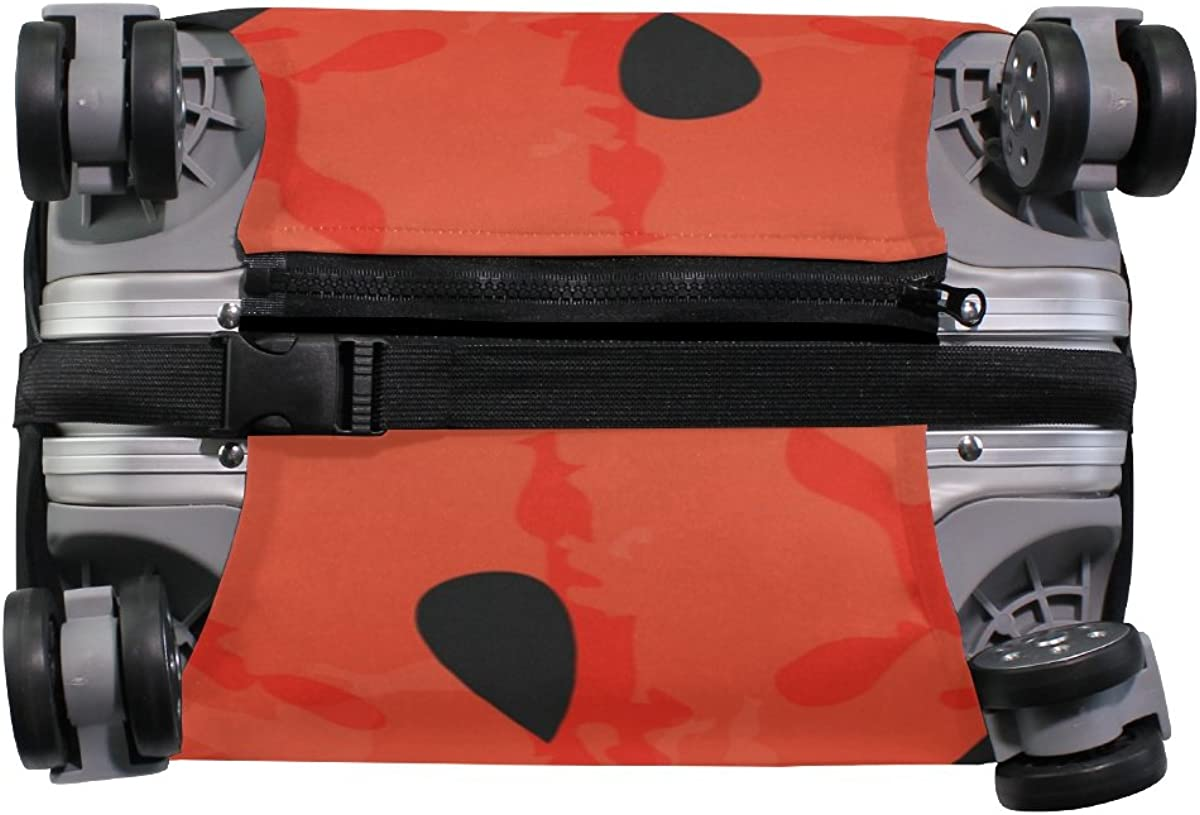 Elastic Travel Luggage Cover Hello Summer Watermelon Suitcase Protector for 18-20 Inch Luggage