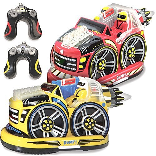 Image of the Kid Galaxy Remote Control Bumper Cars. RC 2 Player Game. 2 Cars and 2 Controllers Included