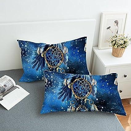 Amazon Sleepwish Blue Galaxy Dreamcatcher Pillow Cases Adorable Decorative Bed Pillows Blue