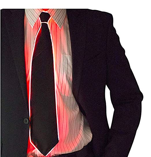Corbatas Light Up Glowing Tie Corbatas Light Up Intermitente ...