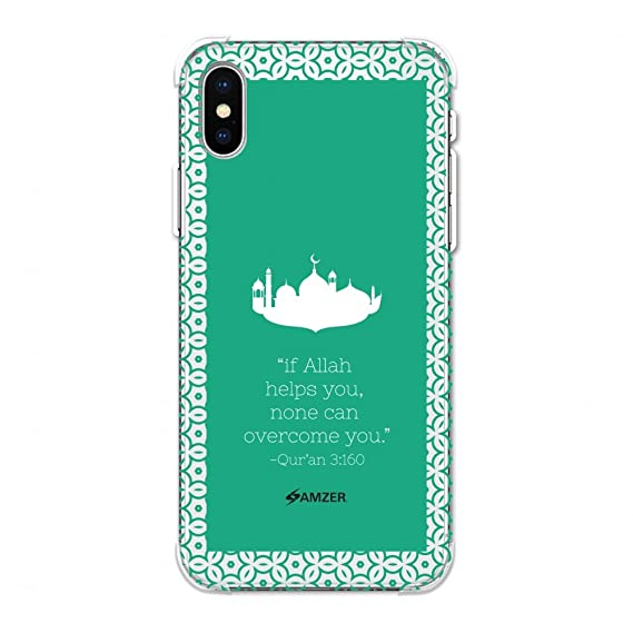 Amzer Designer Slim Tpu X Protection Soft Gel Case Protective Back Cover Skin For Apple Iphone Xs Max Quran 2 Clear