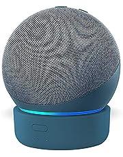 Base de bateria GGMM D4 base para Alexa Echo Dot de 4ª geração, carregador de bateria portátil com alto-falante inteligente, novos acessorios alexa Echo Dot, azul (não incluindo Alexa Echo Dot 4)