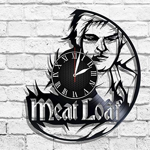 BombStudio Meat Loaf Vinyl Record Wall Clock, Meat