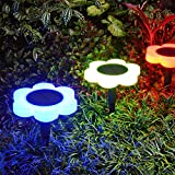 Cheap Tranmix Solar Garden Lights, Solar Pathway Light Outdoor Waterproof Color Changing Landscape Light Auto On/Off Night Lights for Garden Christmas Decoration (2 Pack)