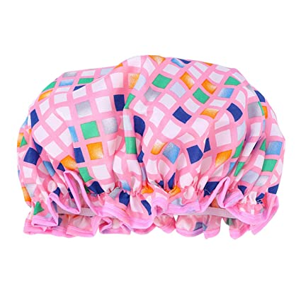 HEALIFTY Gorro de ducha impermeable Sombrero de baño Gorro de ducha para  niña mujer Dama ( 05f2ee552e8