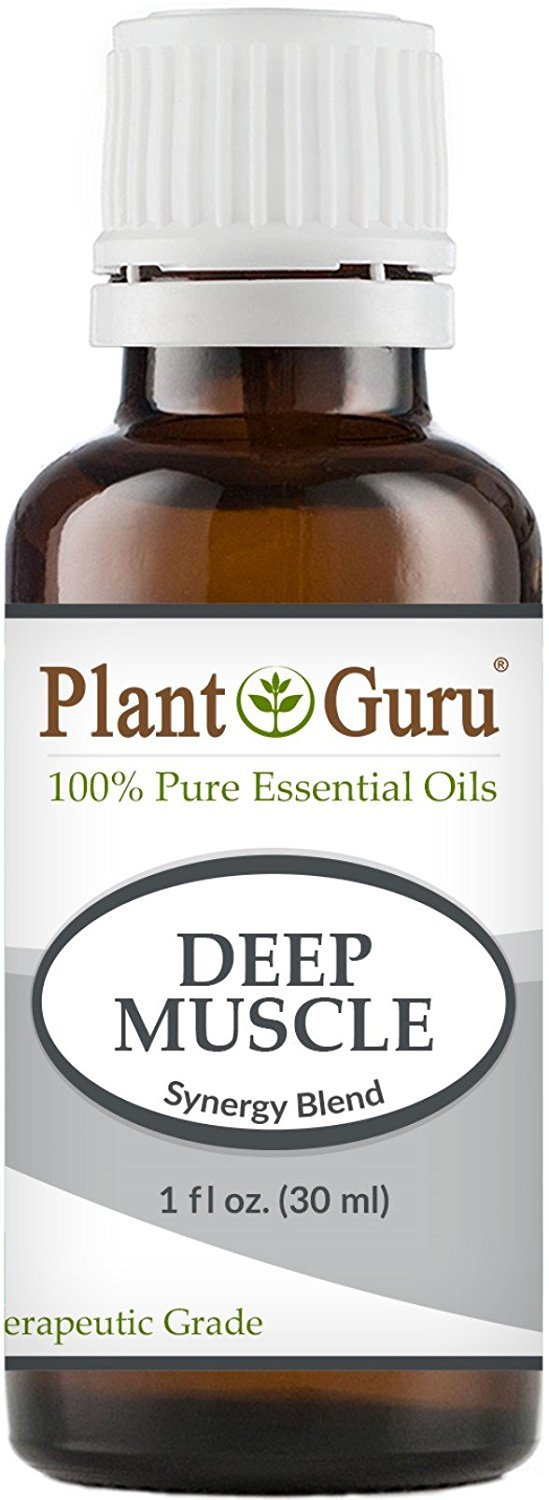 Deep Muscle Synergy Essential Oil Blend 30 ml. 100% Pure, Undiluted, Therapeutic Grade. (Blend Of: Wintergreen, Peppermint, Eucalyptus, Camphor) by Plant Guru B01FR4KMU6