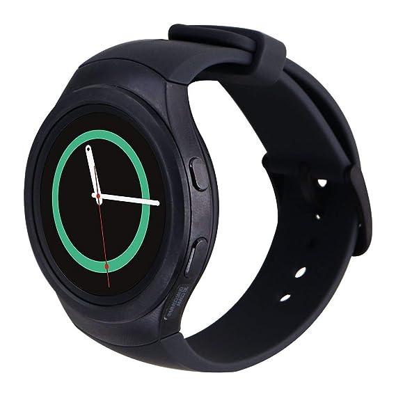Samsung Galaxy Gear S2 Smartwatch SM-R730V 4G (Verizon) with Large Rubber Band - Renewed (Dark Gray)